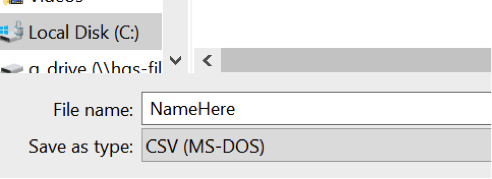 Excel to CSV Format